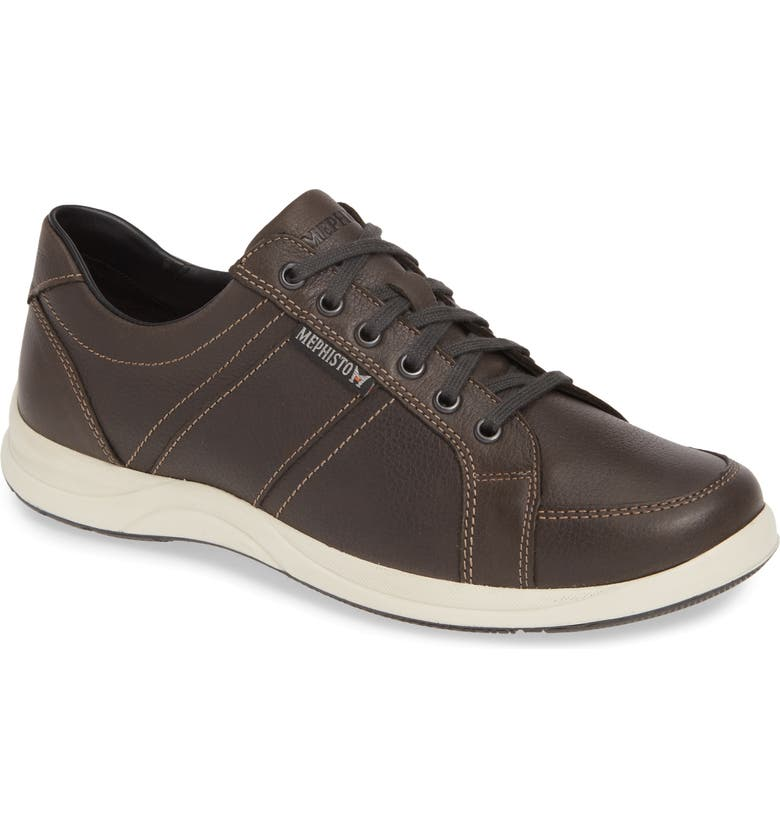 MEPHISTO 'Hero' Sneaker, Main, color, GREY LEATHER
