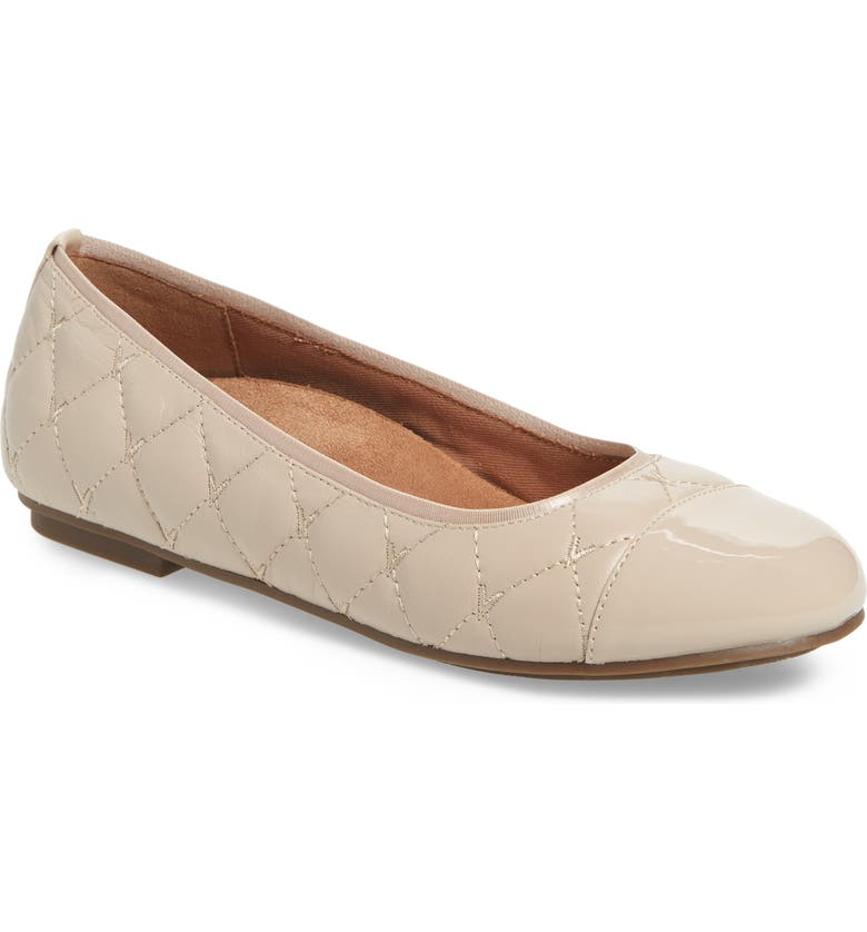 VIONIC Desiree Flat, Main, color, NUDE LEATHER