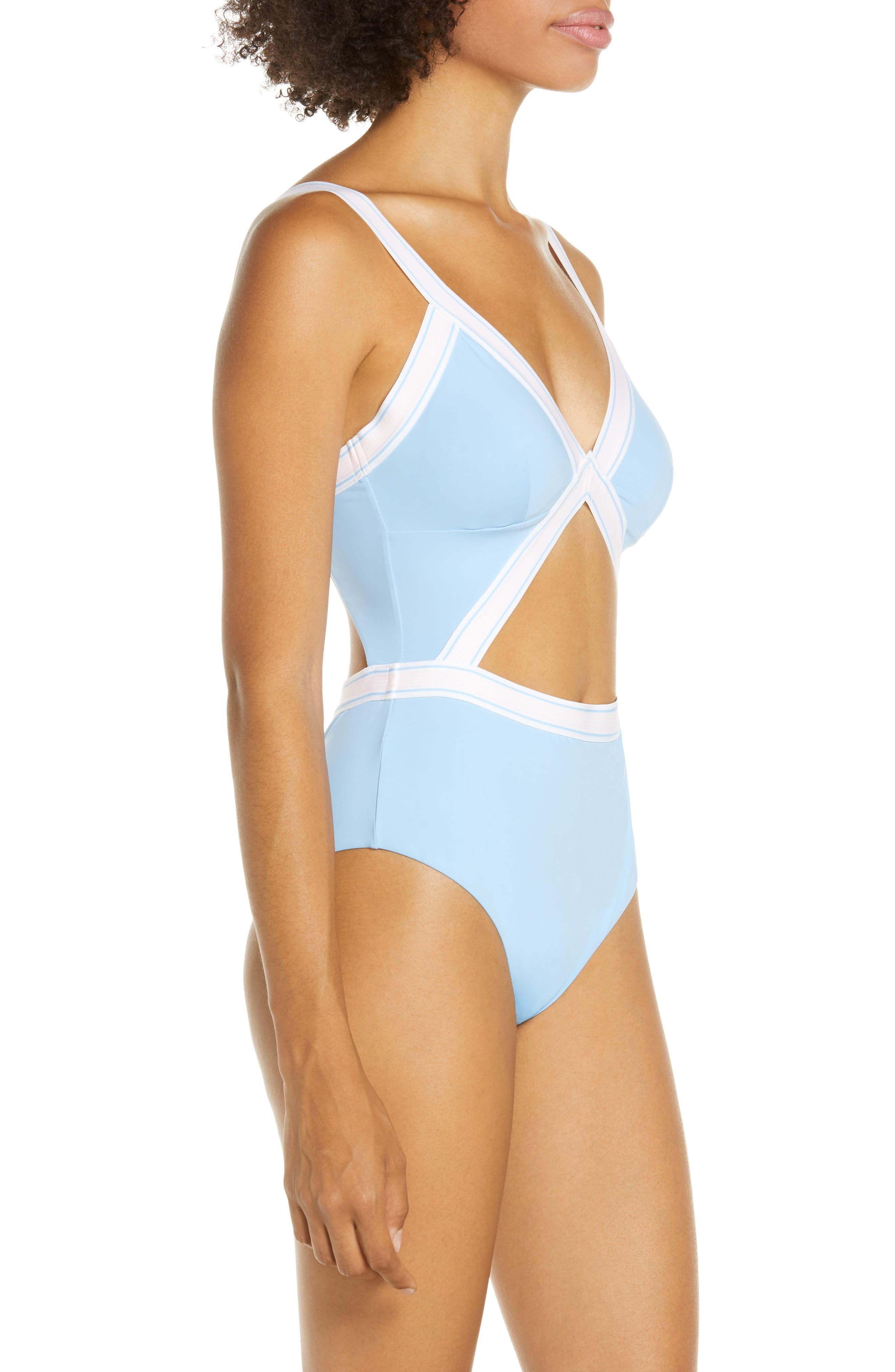 ,                             Fast Lane One-Piece Swimsuit,                             Alternate thumbnail 4, color,                             BIG SKY