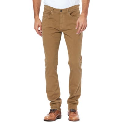 Paige Transcend Federal Slim Straight Leg Jeans, Brown