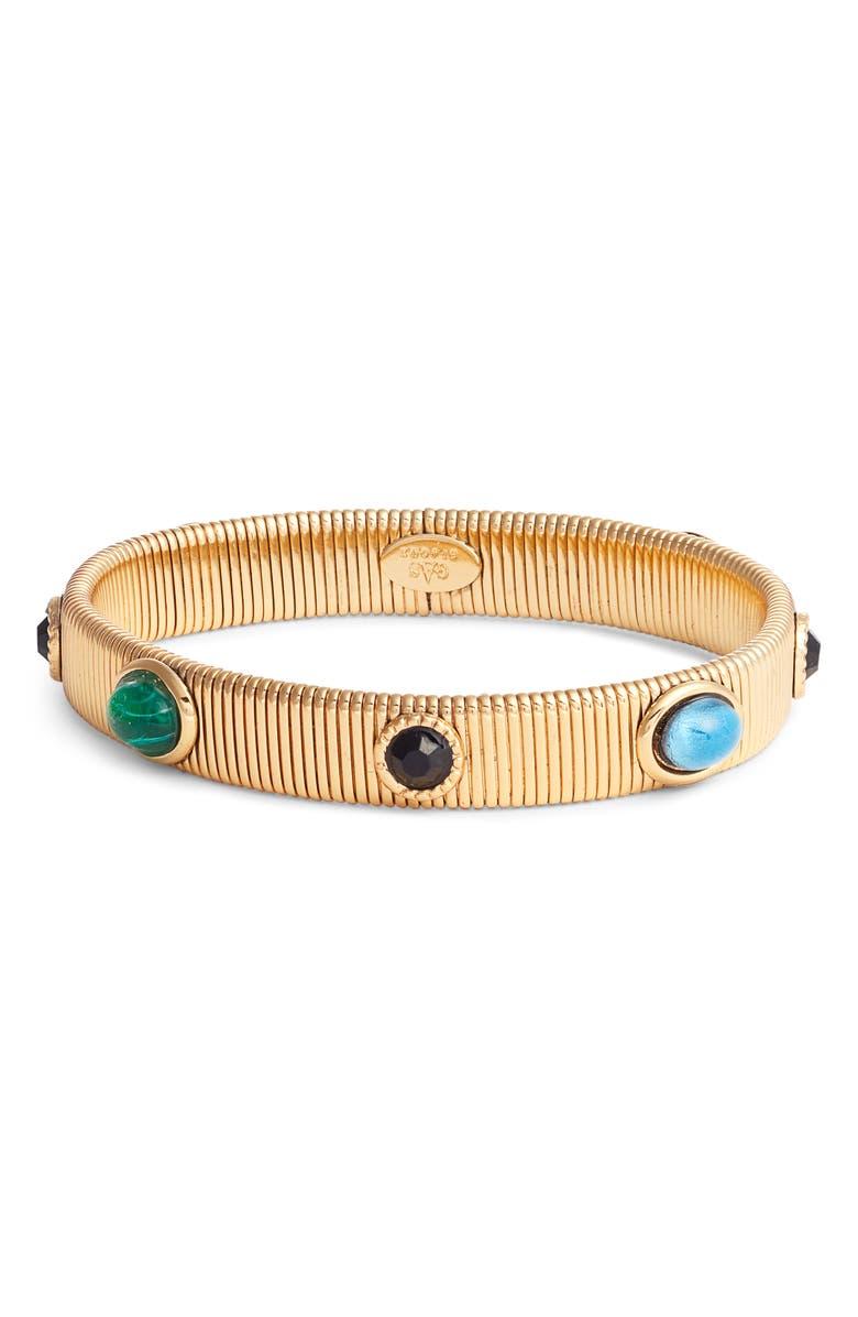 GAS BIJOUX Strada Bracelet, Main, color, BLACK/ GREEN/ BLUE