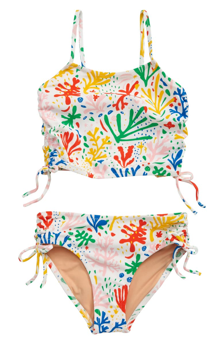 CREWCUTS BY J.CREW Two-Piece Tankini Swimsuit, Main, color, 100