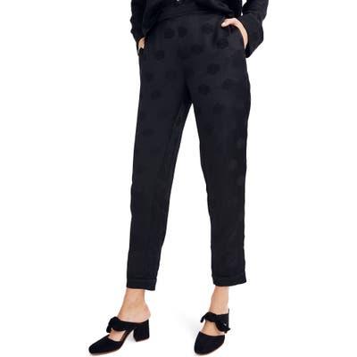 Madewell Satin Jacquard Pajama Trousers, Black
