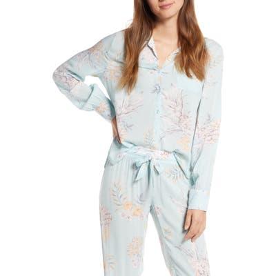 Pj Salvage Paradise Bound Dobby Weave Pajama Top, Green
