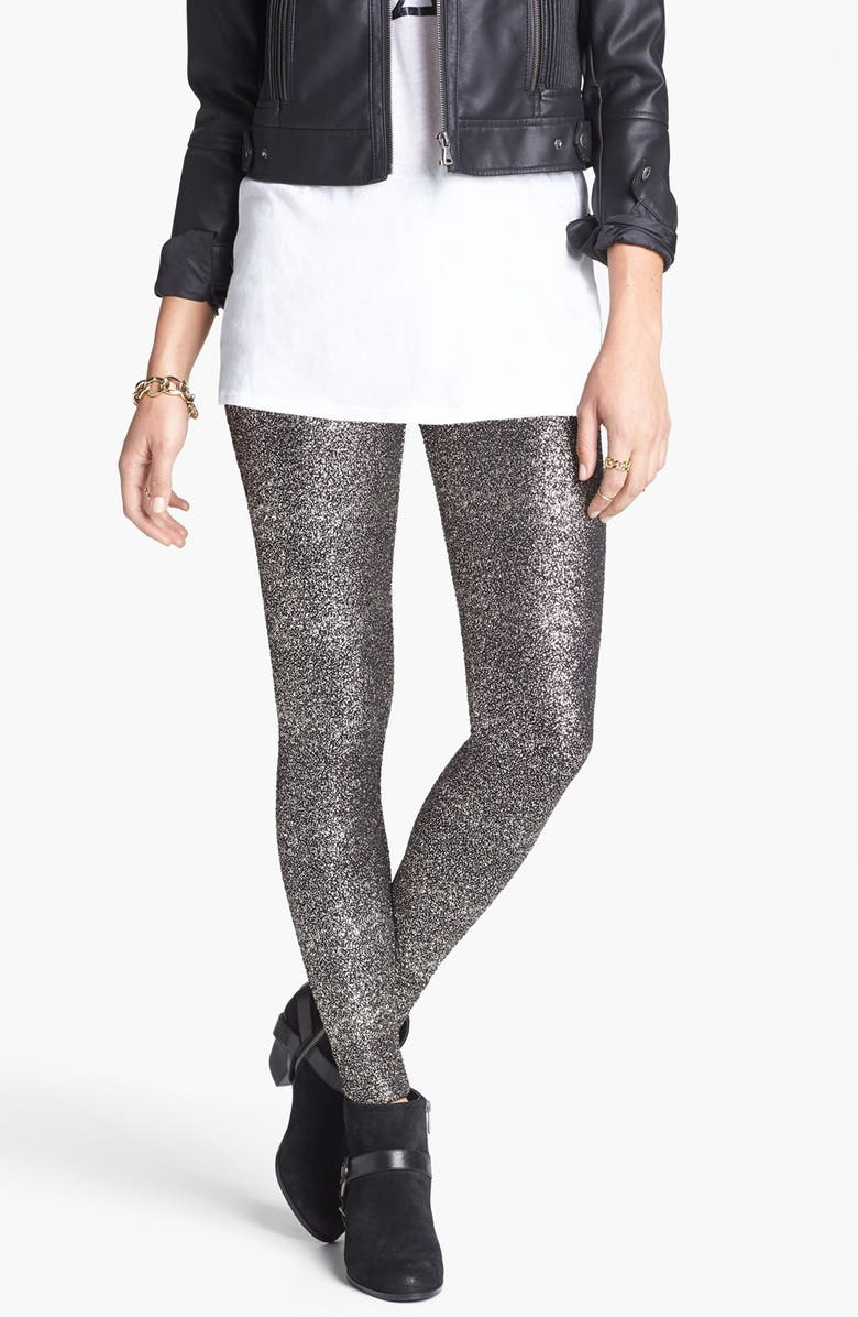 MIMI CHICA Glitter Leggings, Main, color, 001