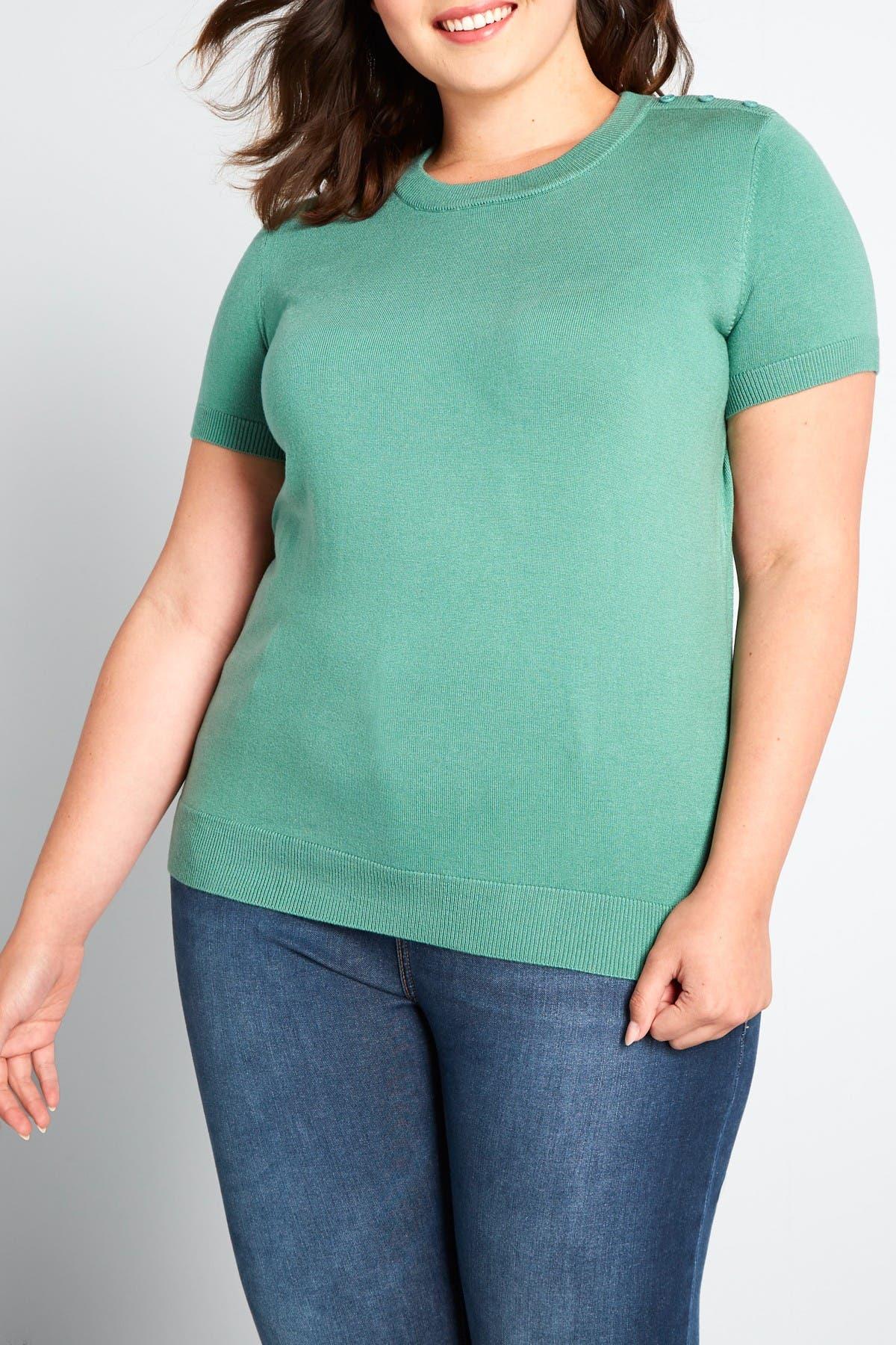 50s Shirts & Tops MODCLOTH Crew Neck T-Shirt Size 4X - Sea Green at Nordstrom Rack $19.97 AT vintagedancer.com