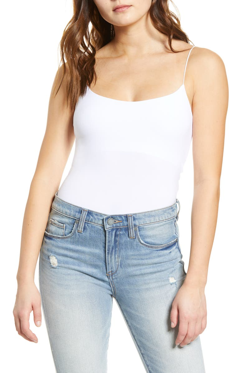 LEITH Sexy Crop Camisole, Main, color, WHITE