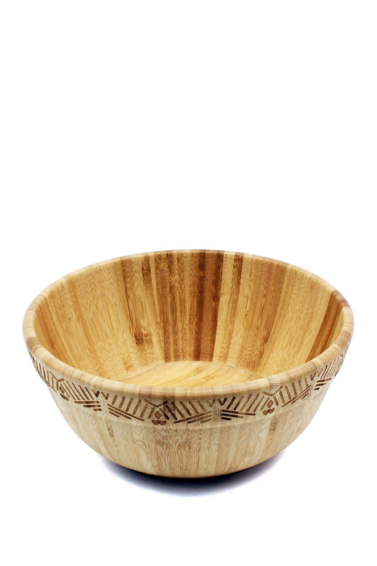 Image of BergHOFF Bamboo Decorated Salad Bowl