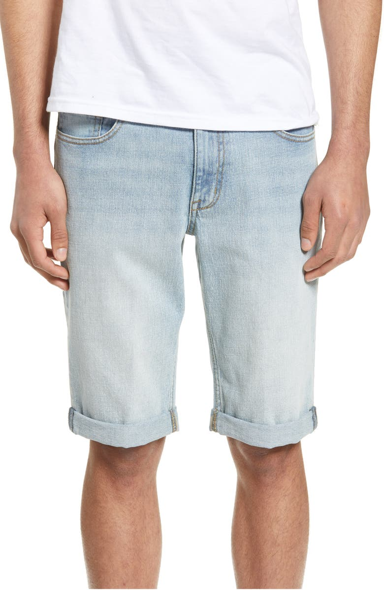 THE RAIL Denim Shorts, Main, color, BLUE KURT WASH