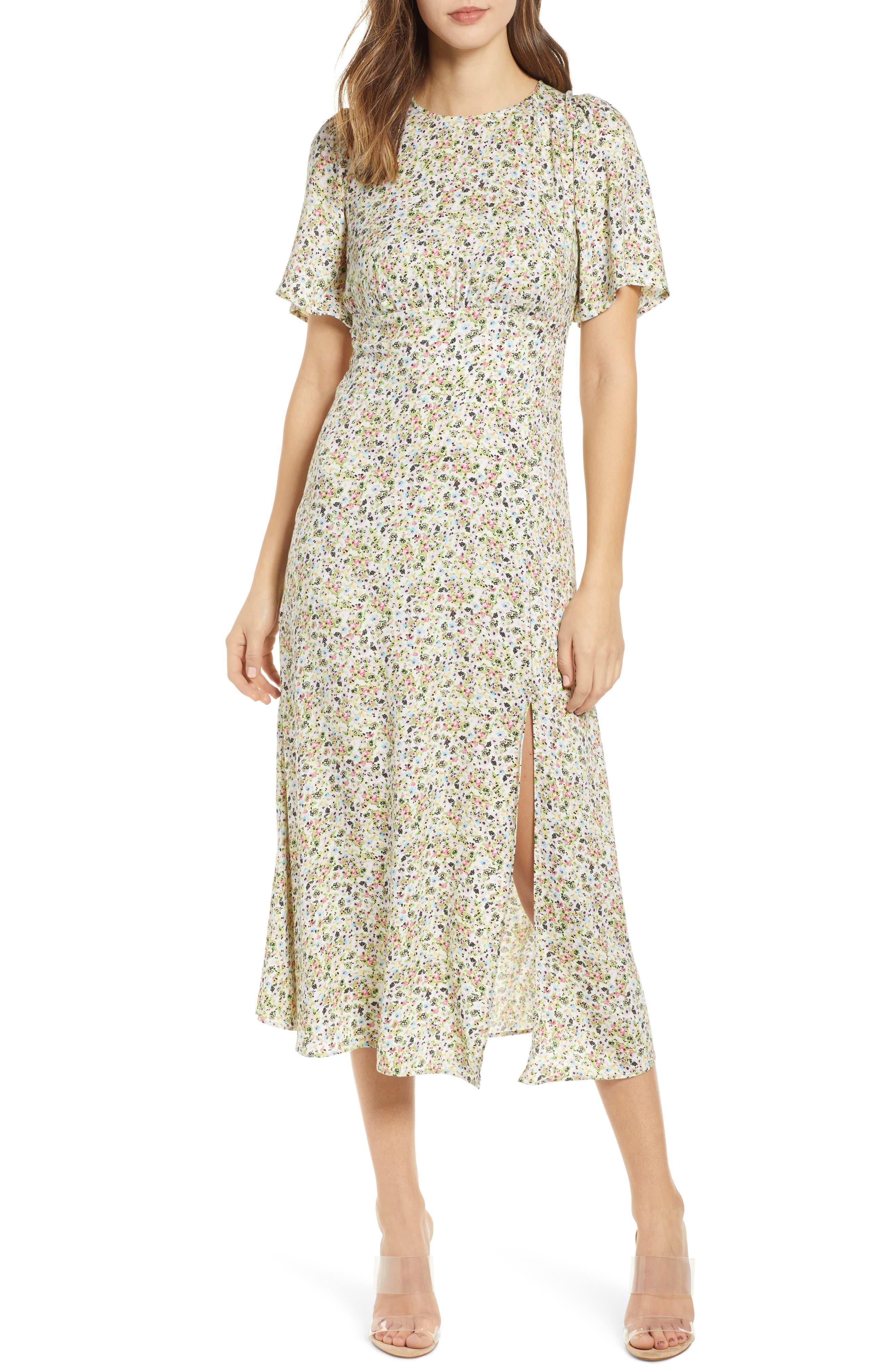 Afrm Janice Midi Dress, White
