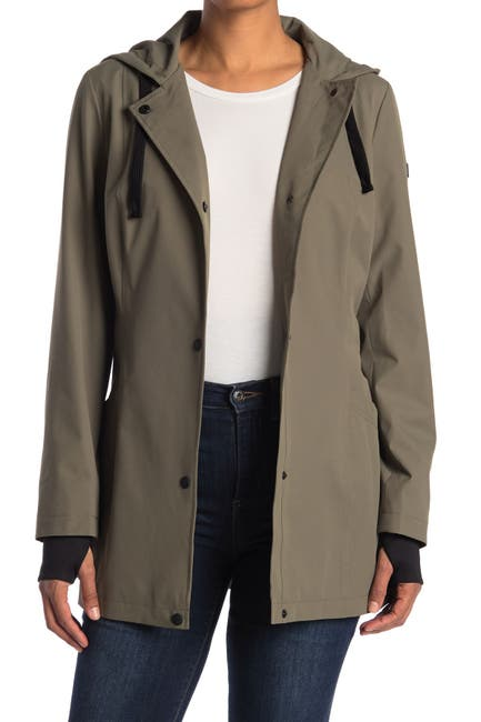 Image of Sam Edelman Hooded Soft Trench Coat