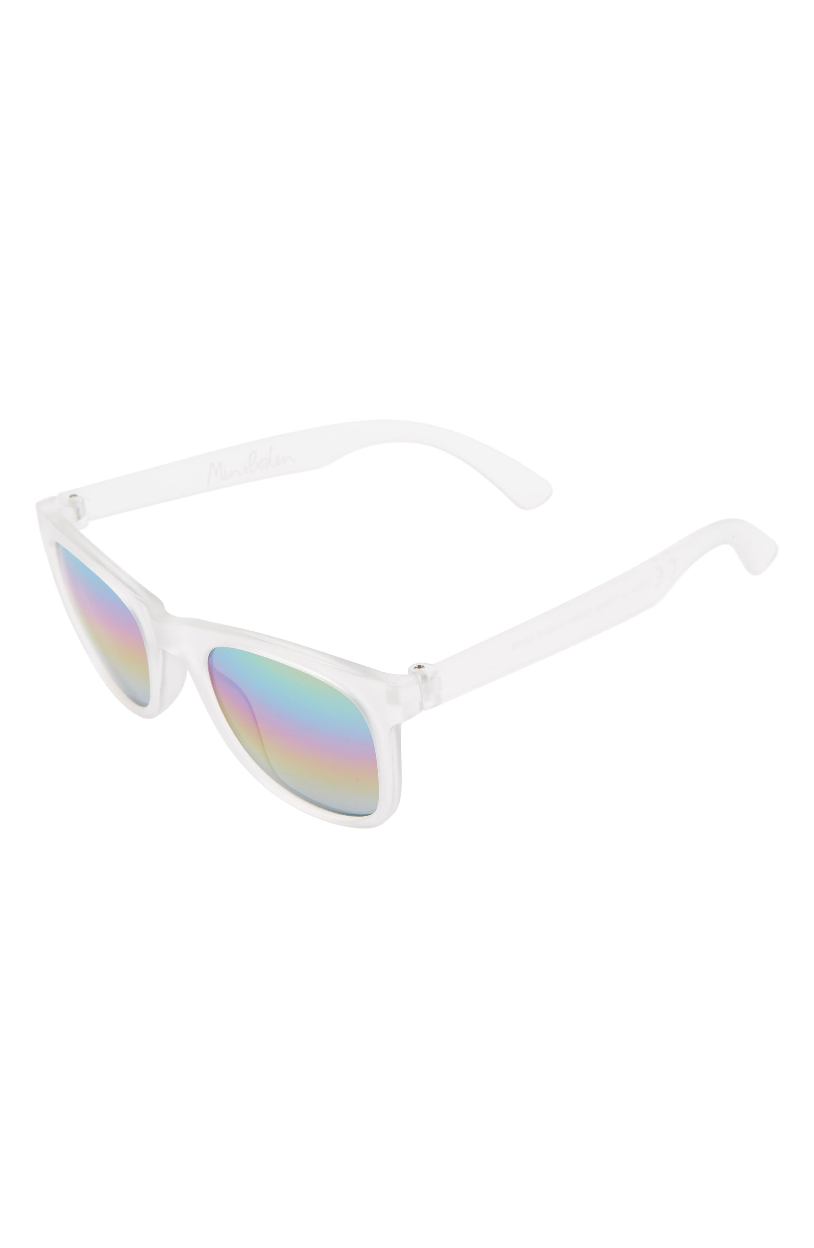 Boys Mini Boden Mirrored Sunglasses  Mul Clear
