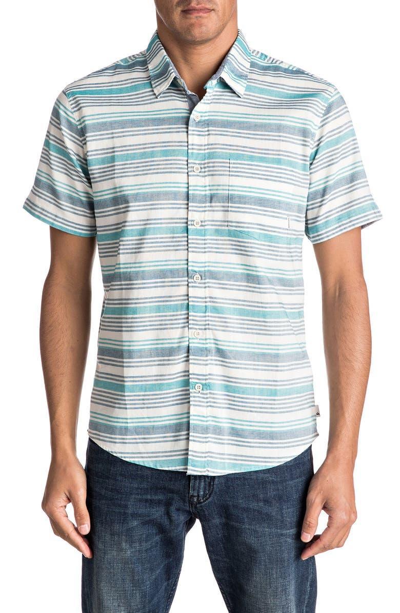 QUIKSILVER Aventail Stripe Woven Shirt, Main, color, 369