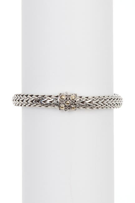 Image of JOHN HARDY Sterling Silver & 18K Yellow Gold Flexible Bracelet