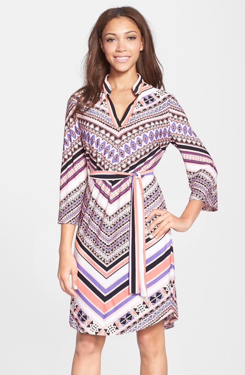ECI Geo Print Jersey Shirtdress, Main, color, 953
