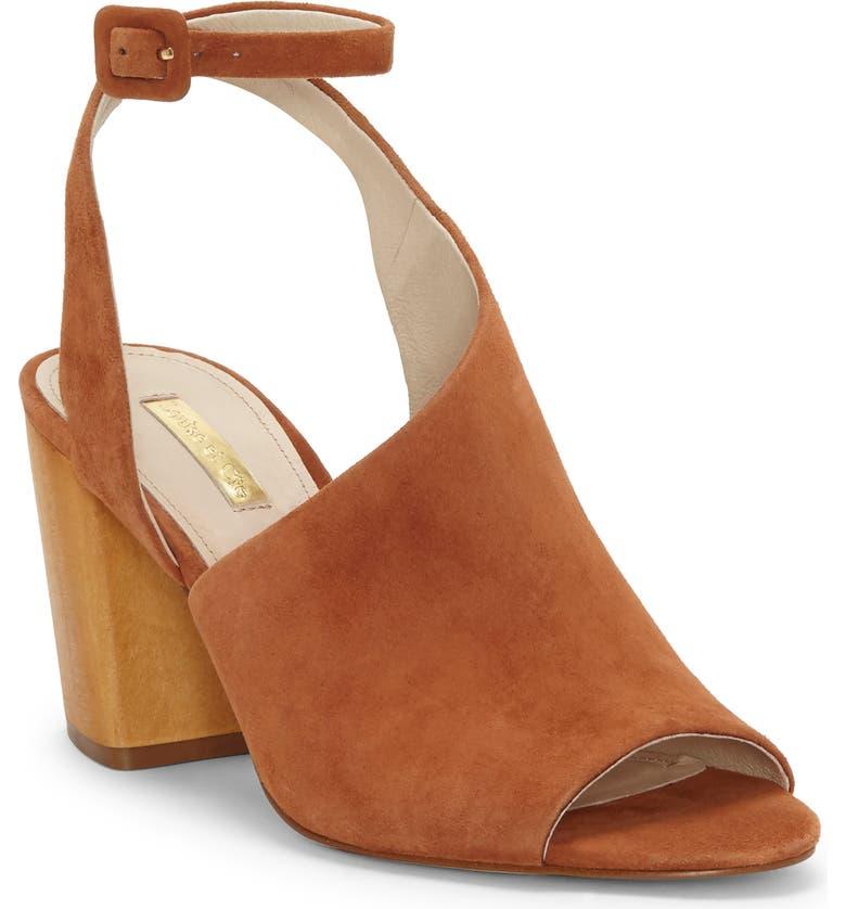 LOUISE ET CIE Kyvie Asymmetric Shield Sandal, Main, color, CINNAMON SUEDE
