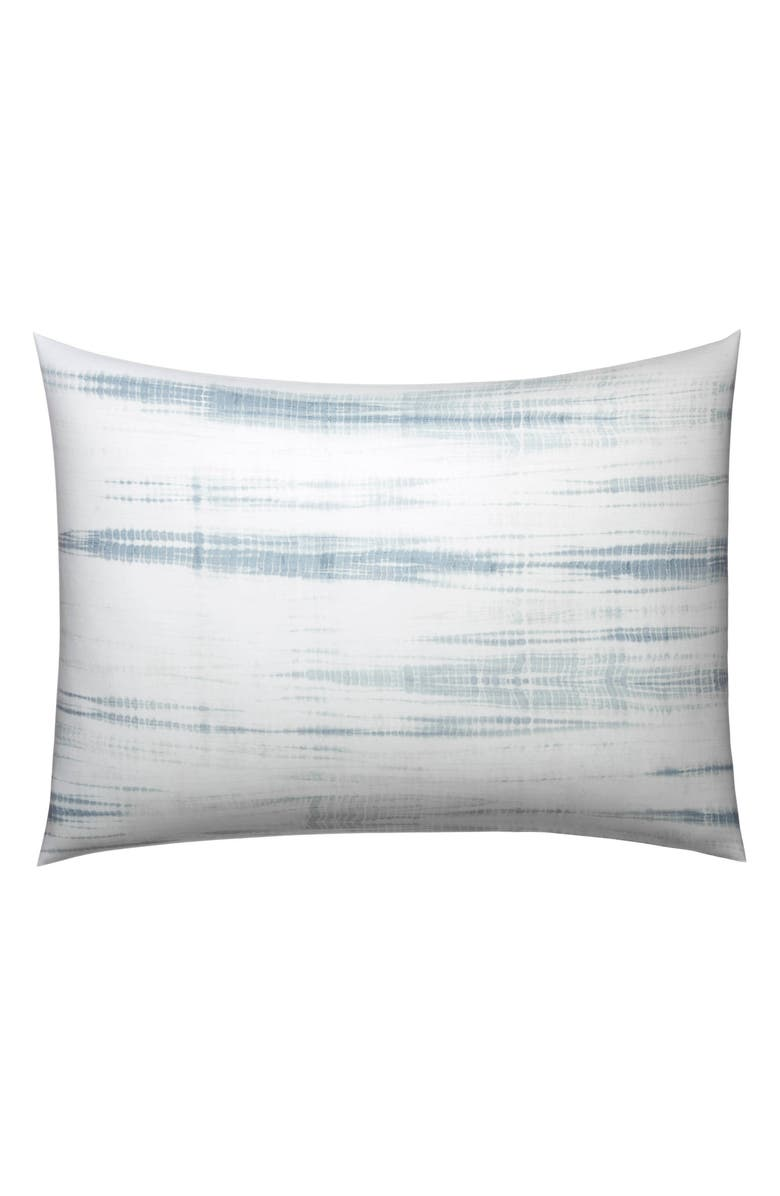 VERA WANG Marble Shibori Sham, Main, color, SILVER BLUE