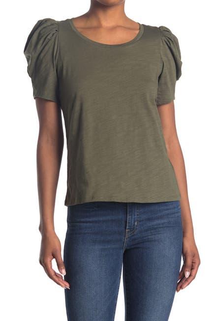 Image of 1.State Puffed Sleeve Slub Knit Top
