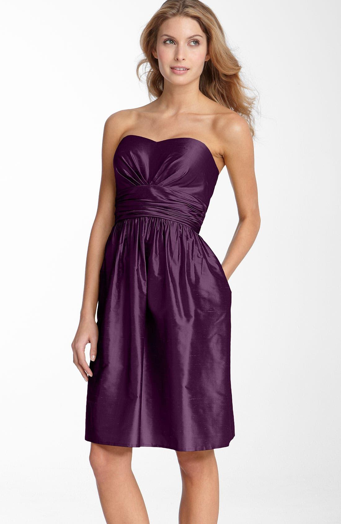 ,                             Silk Shantung Dress,                             Main thumbnail 9, color,                             500