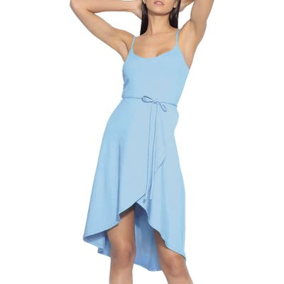Susana Monaco Tie Waist Sleeveless Dress, Blue