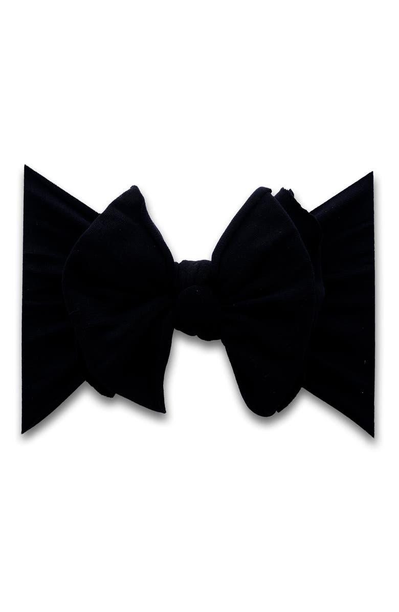 BABY BLING Fab-Bow-Lous Headband, Main, color, BLACK