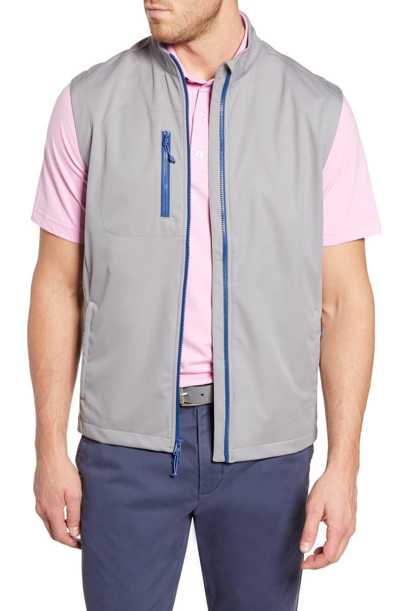 JOHNNIE-O Firestone Zip Vest, Main, color, STEEL