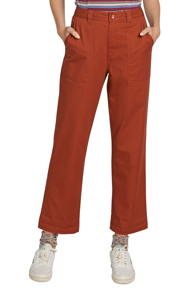 VOLCOM Frochickie Carpenter Pants, Main, color, RUST