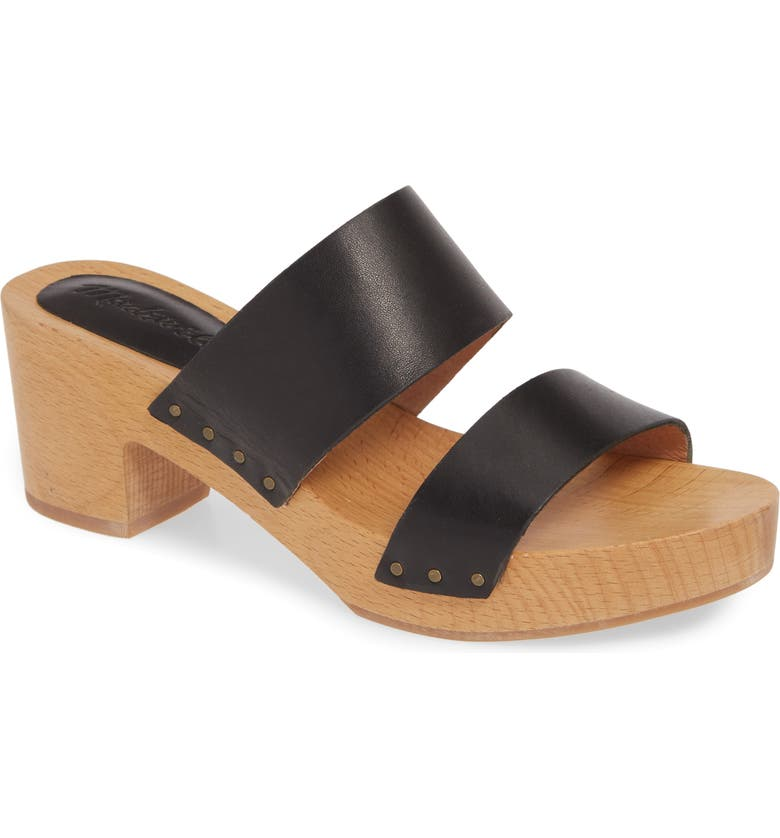 MADEWELL The Clara Clog Sandal, Main, color, TRUE BLACK