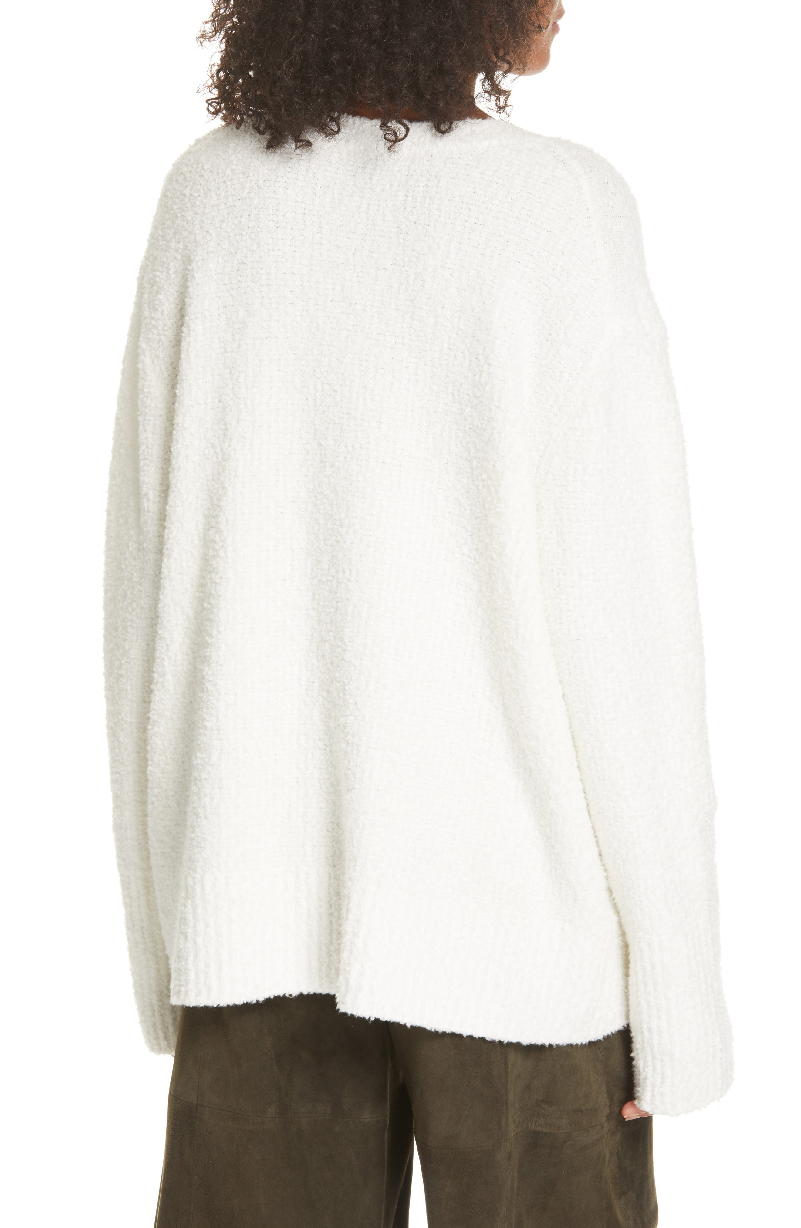 ,                             Textured Tunic Sweater,                             Alternate thumbnail 2, color,                             WHITE