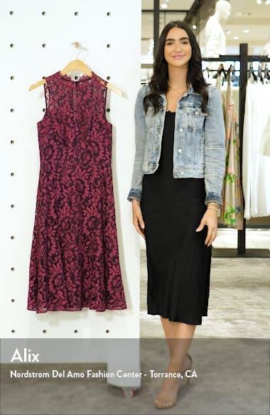 Floral Lace Fit & Flare Dress, sales video thumbnail