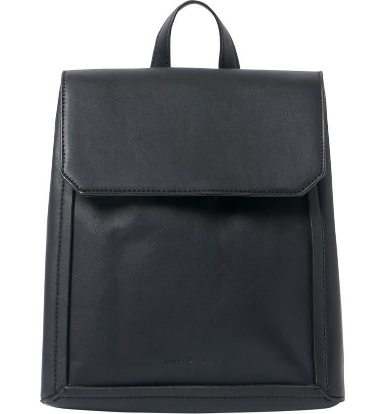 URBAN ORIGINALS Modernism Vegan Leather Backpack, Main, color, 001