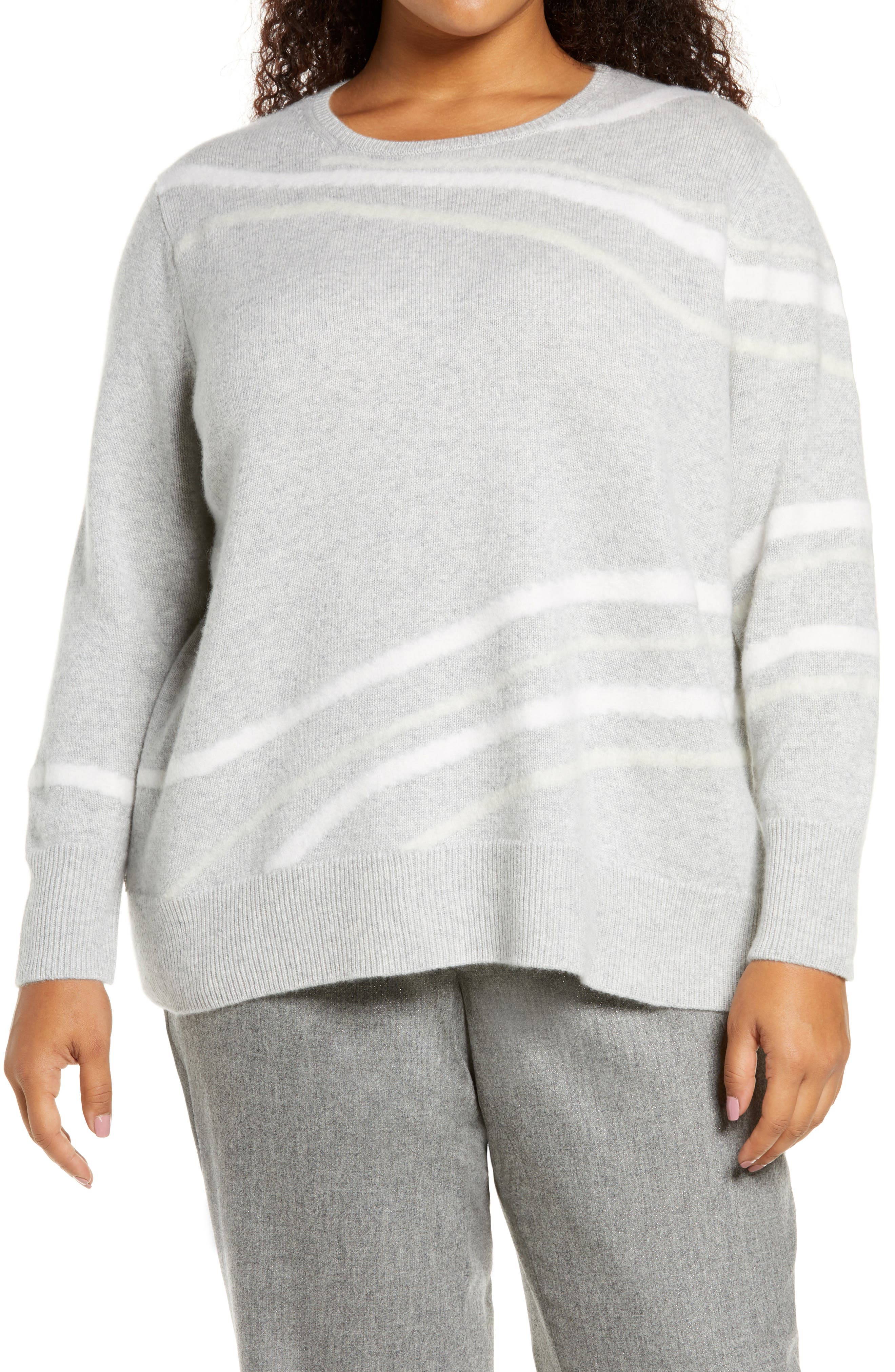 Image of Lafayette 148 New York Needle Punch Cashmere Sweater