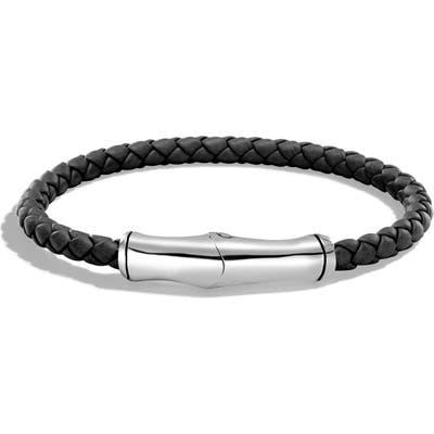 John Hardy Bamboo Braided Leather Bracelet