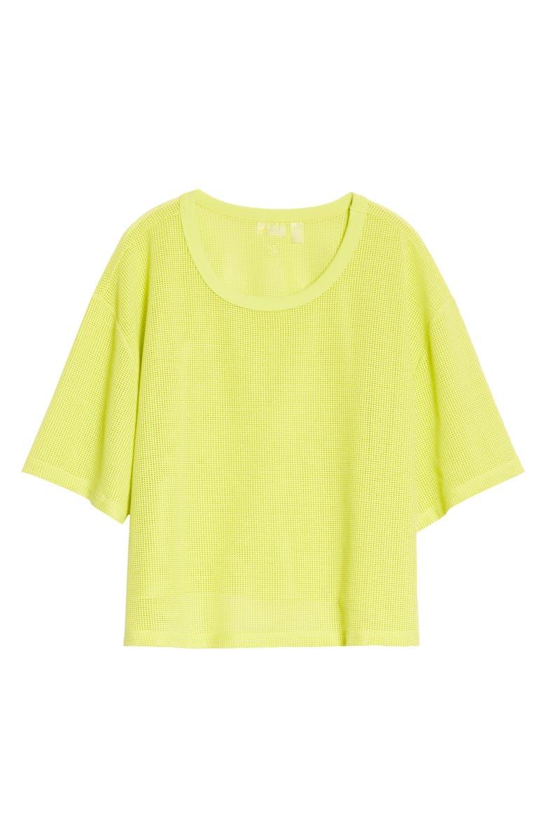 ZELLA Mesh Around Crop T-Shirt, Main, color, GREEN BLAZE
