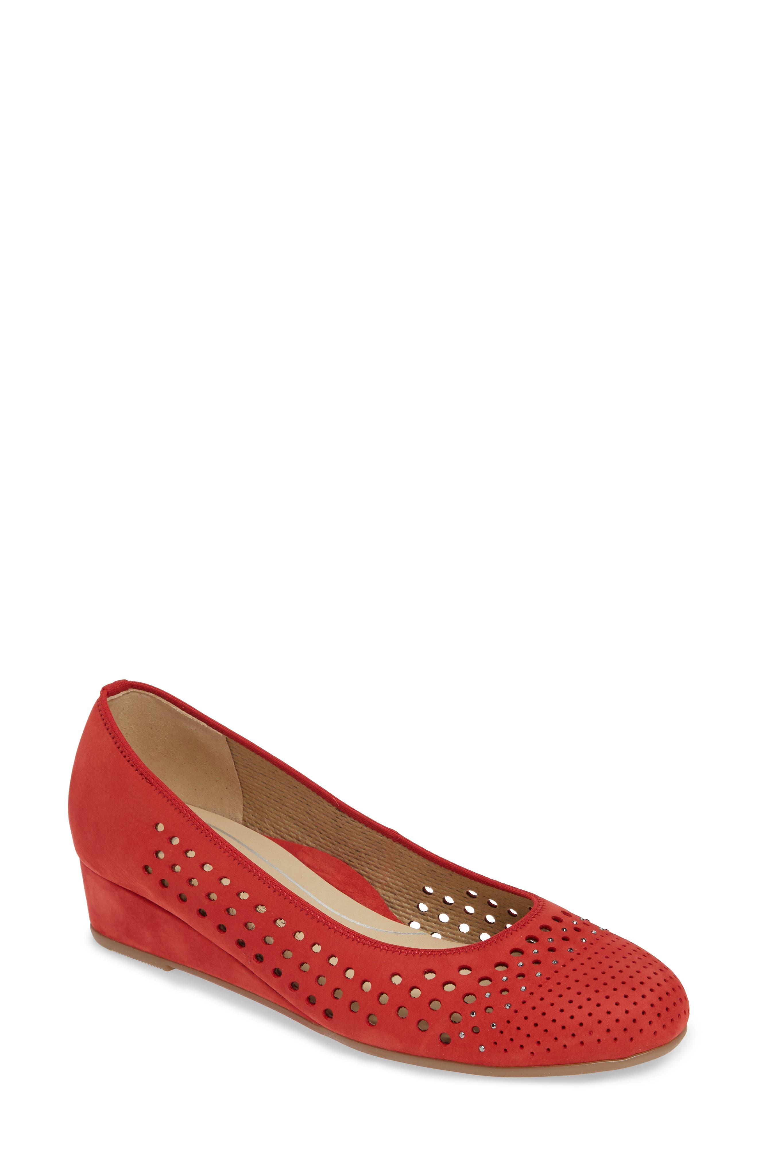 Ara Lois Wedge Pump - Red