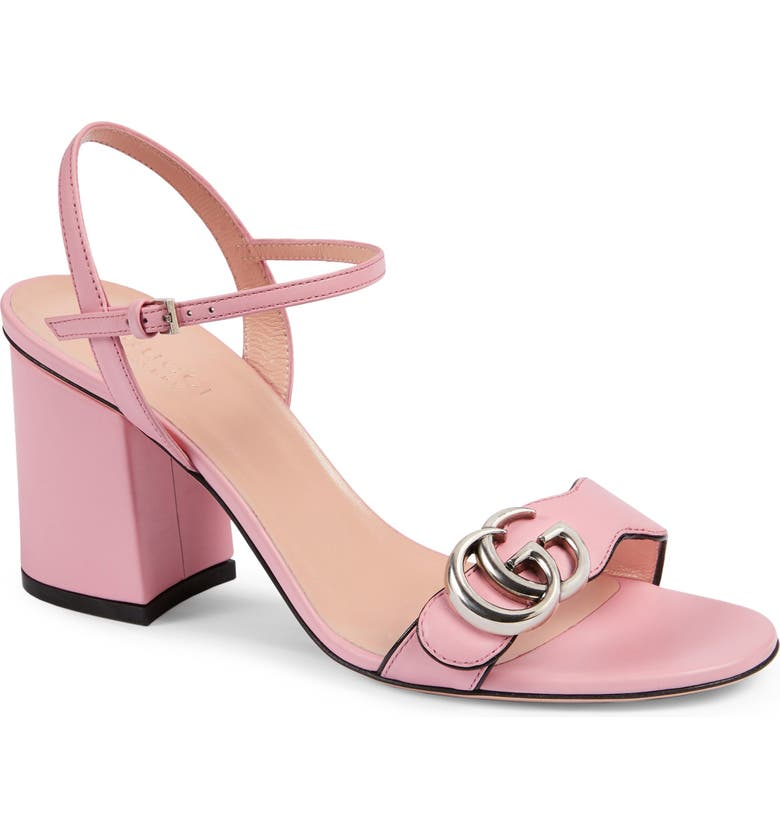 GUCCI GG Quarter Strap Sandal, Main, color, WILD ROSE