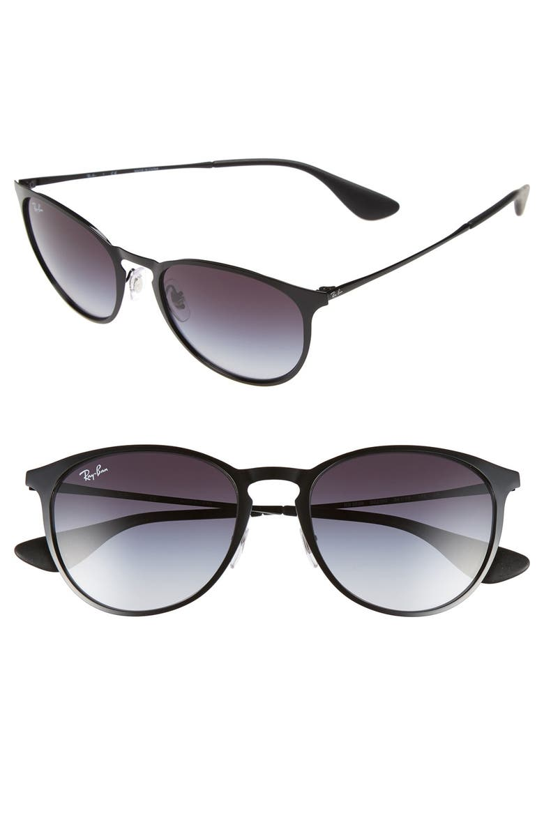 RAY-BAN 'Youngster' 54mm Sunglasses, Main, color, BLACK