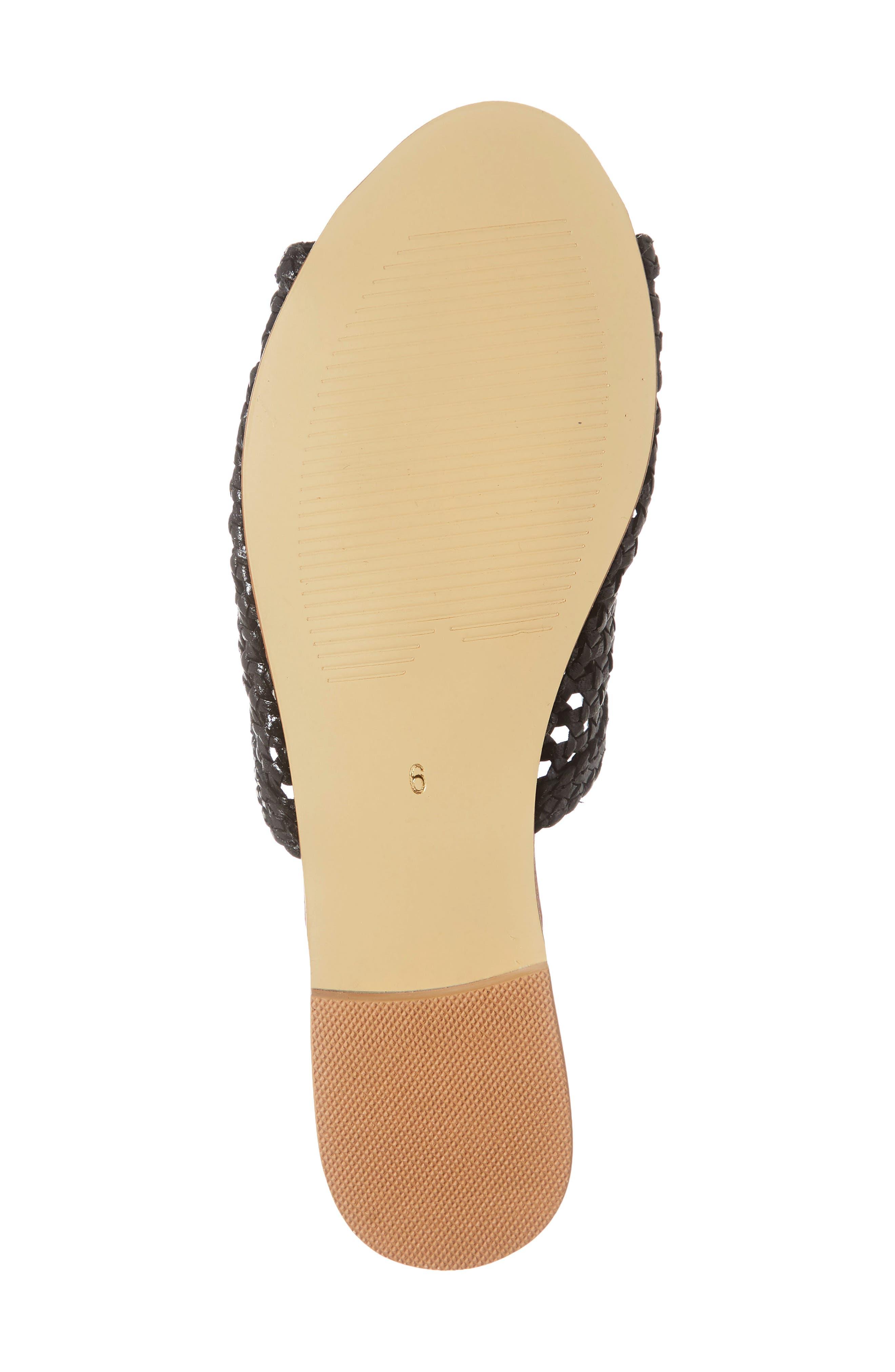 ,                             Begonia Slide Sandal (Women0,                             Alternate thumbnail 6, color,                             BLACK LEATHER