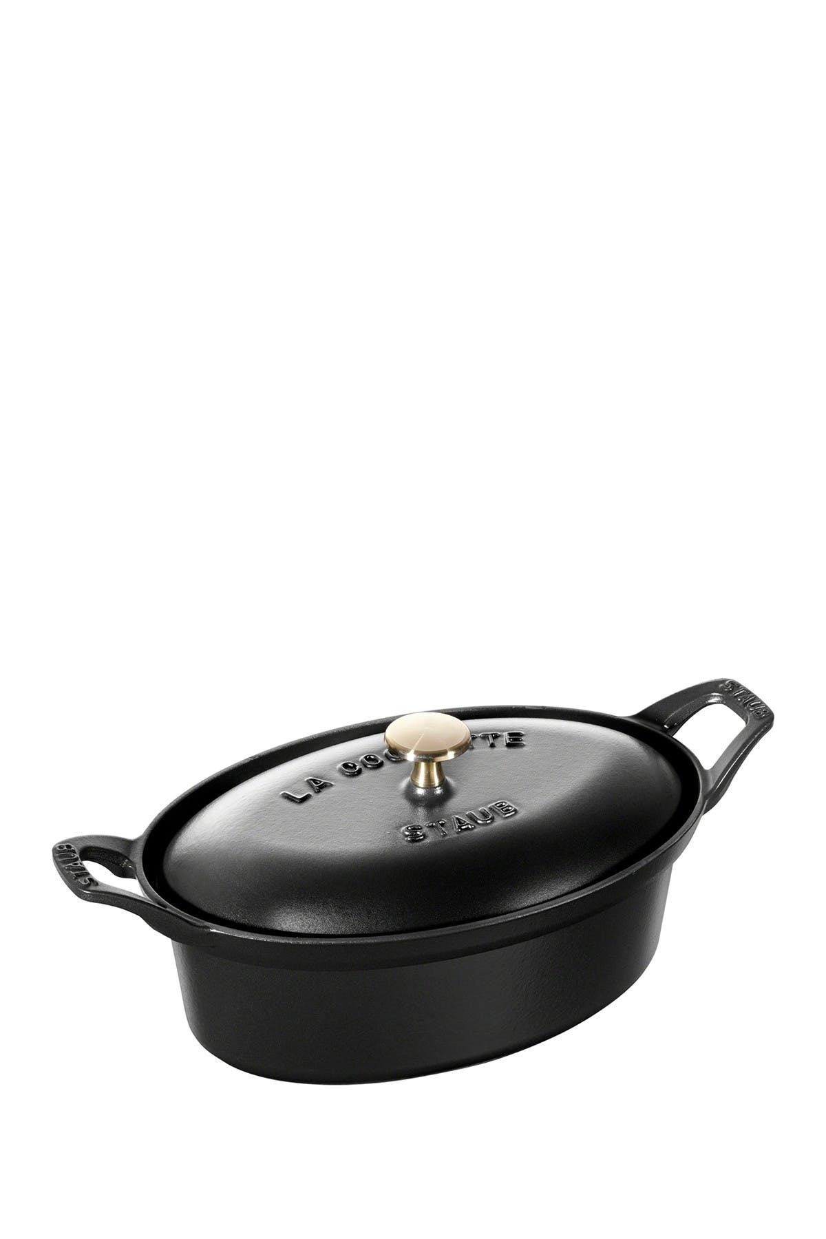 Image of Staub Cast Iron 1.9-qt Oval Terrine - Black