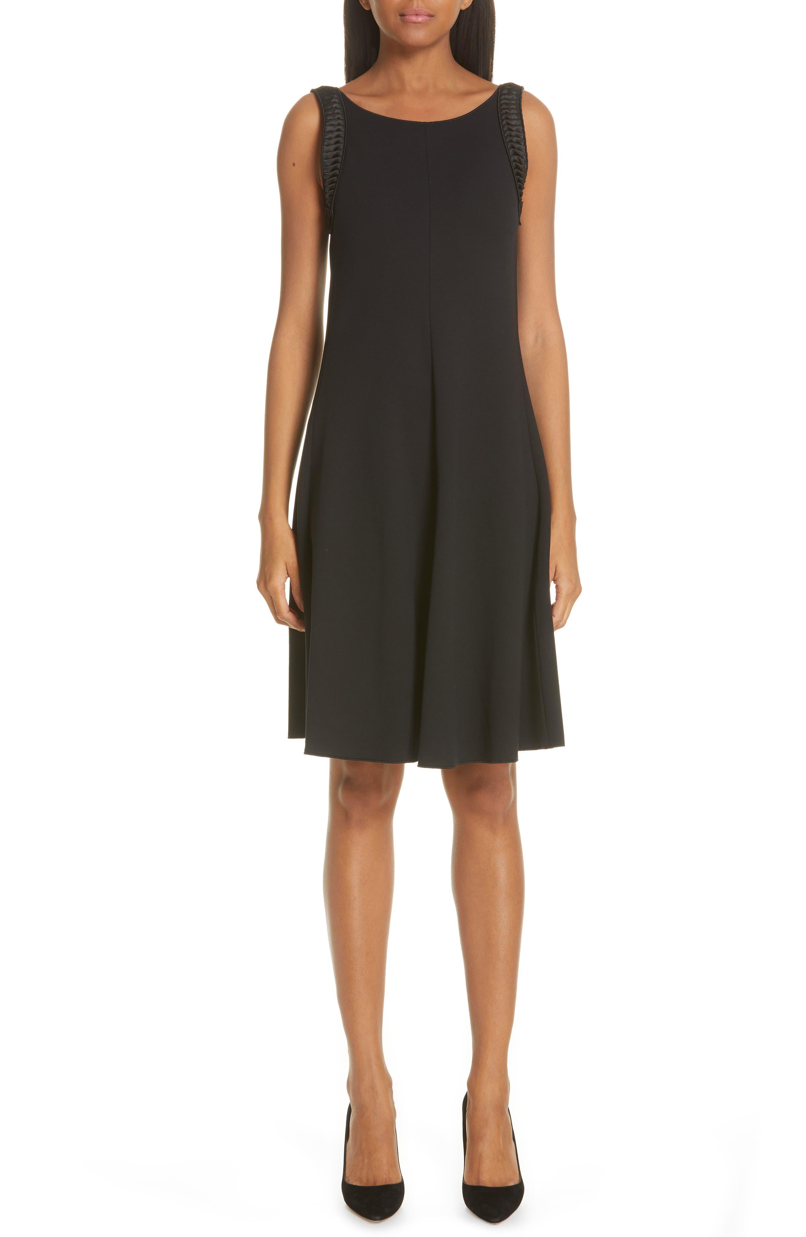 Emporio Armani Stretch Jacquard Dress, US / 44 IT - Black