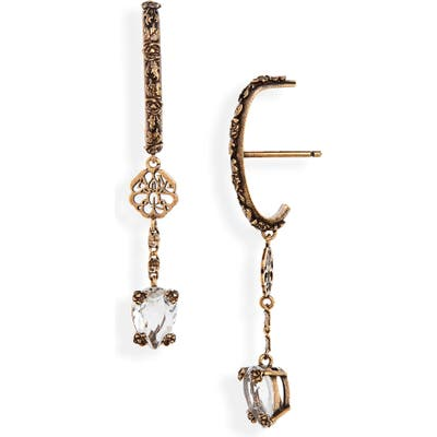 Alexander Mcqueen Signature Crystal Drop Earrings
