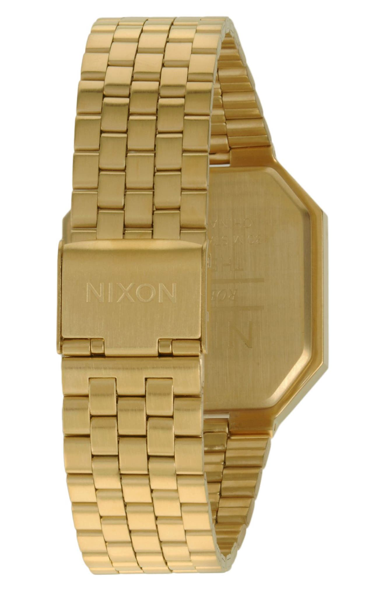 ,                             Rerun Digital Bracelet Watch, 39mm,                             Alternate thumbnail 2, color,                             GOLD/ BLACK/ GOLD