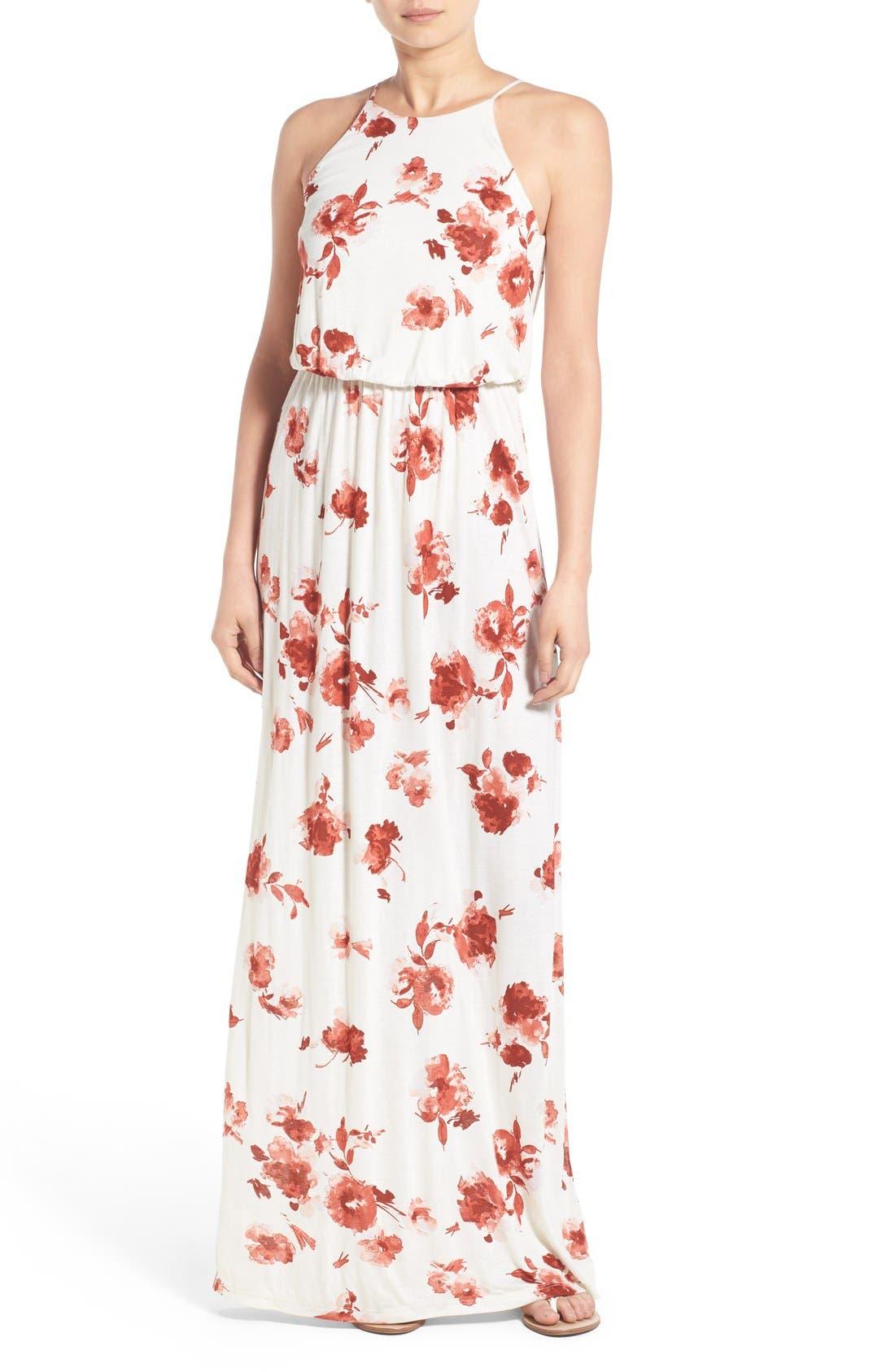 ,                             High Neck Maxi Dress,                             Main thumbnail 139, color,                             900