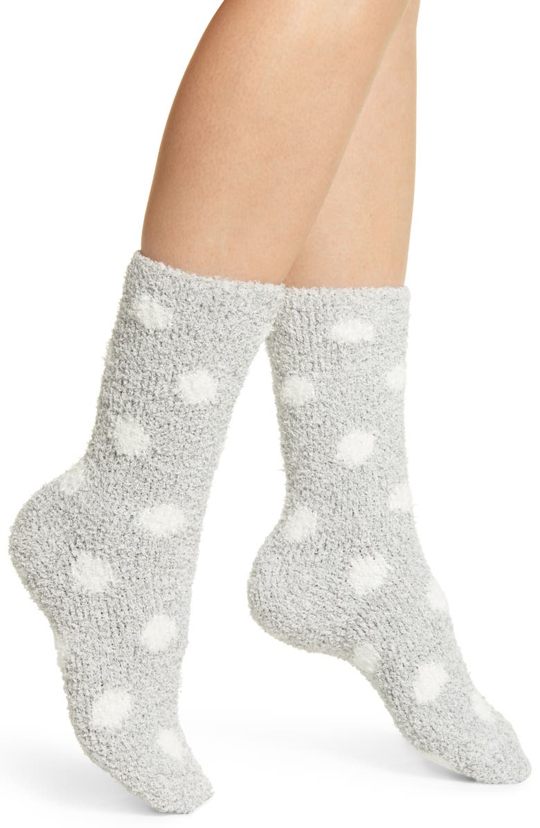 NORDSTROM Butter Crew Socks, Main, color, GREY MICRO MARL DOT