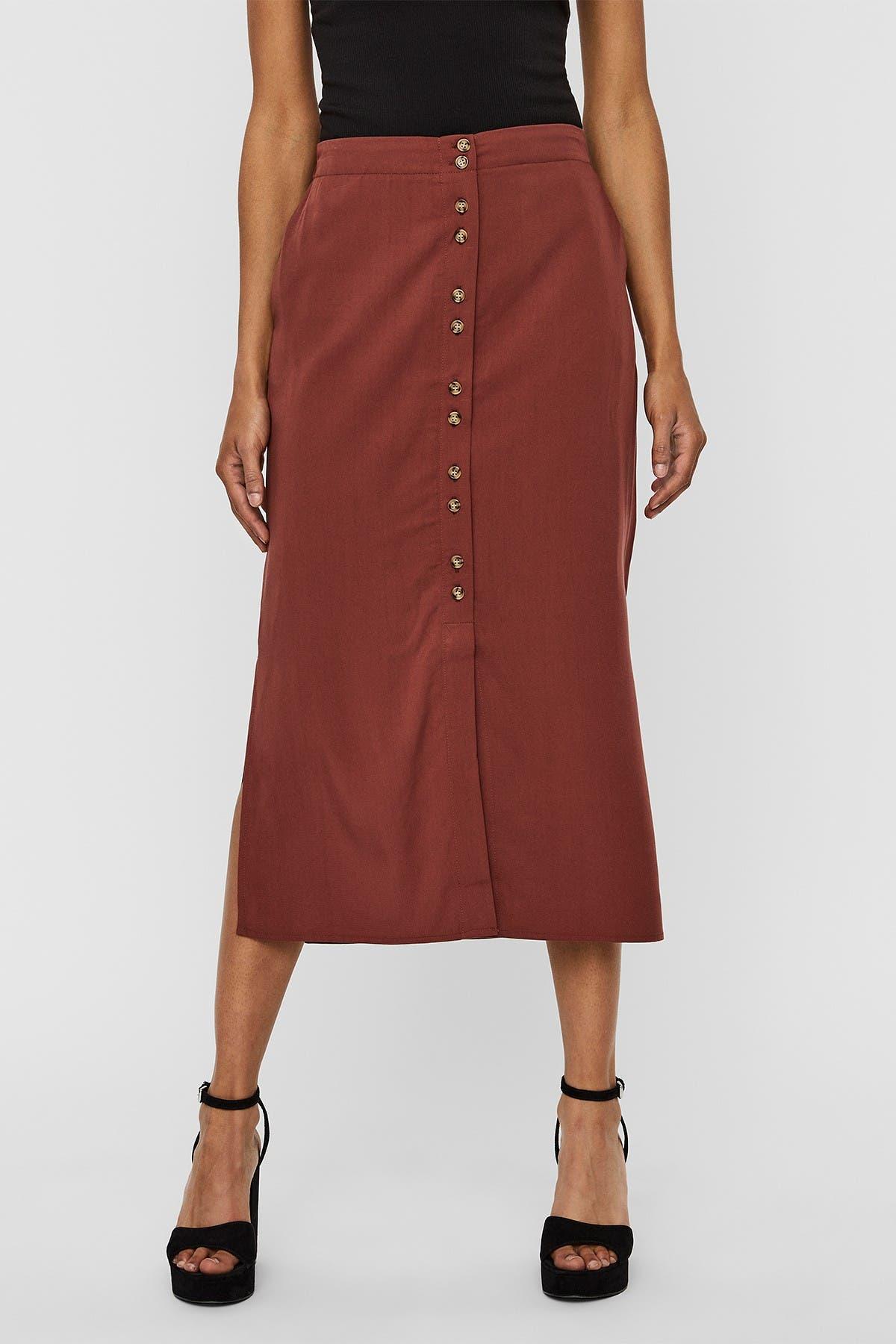 Vero Moda vintage white linen skirt White knee-length skirt with front and back pockets Size 8 US skirt Size 38 EUR skirt