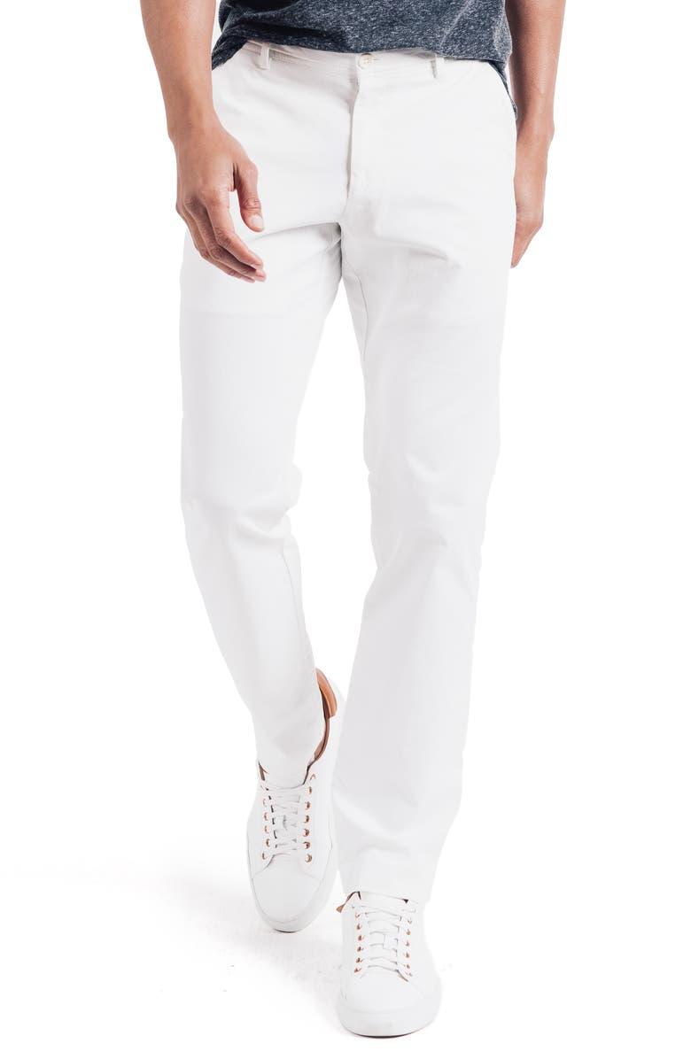 GOOD MAN BRAND Soho Slim Fit Flat Front Stretch Cotton Dress Pants, Main, color, 100