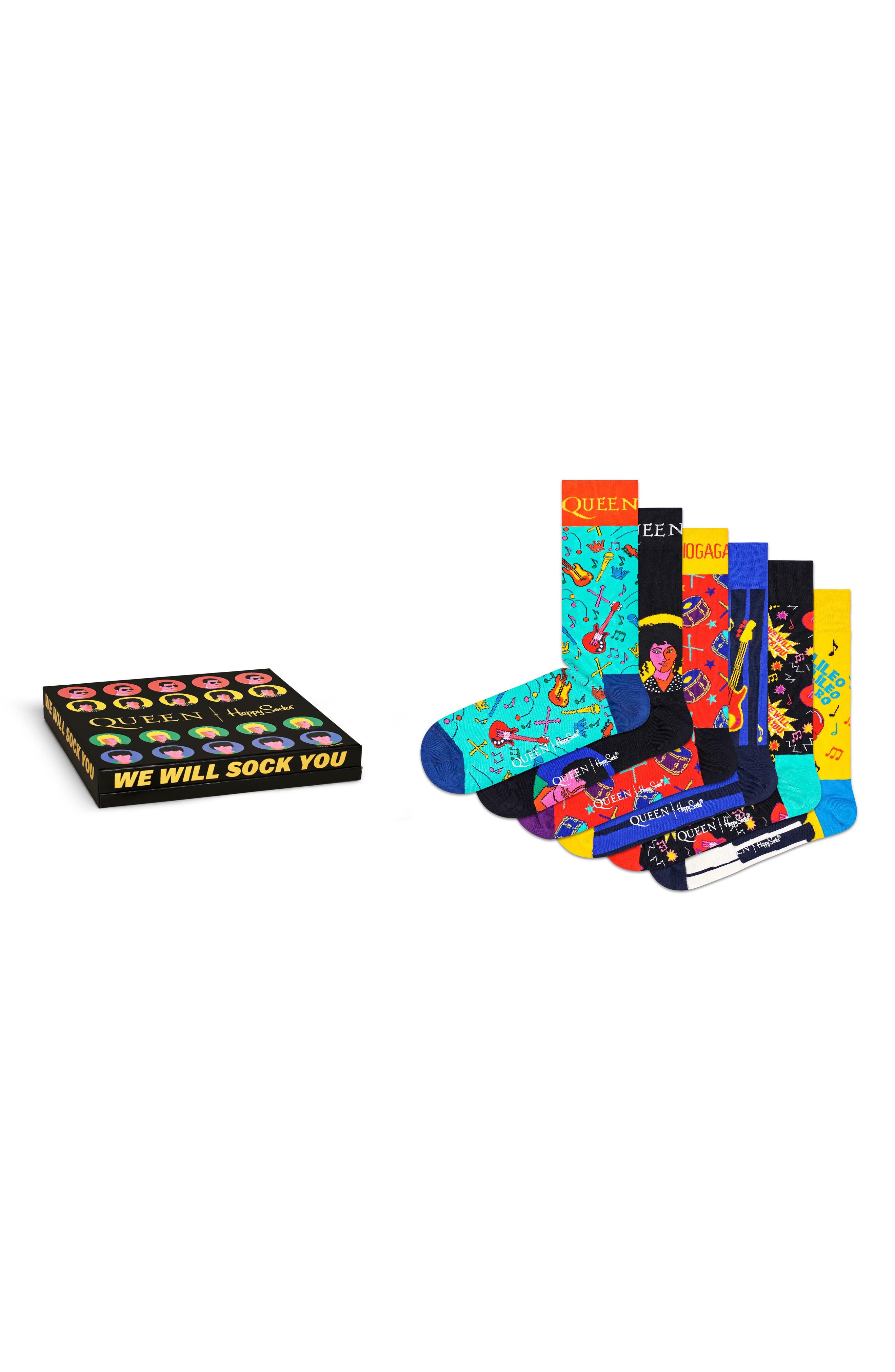 X Queen 6-Pack Sock Gift Box