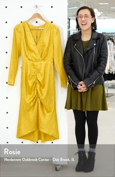 Ronnie Ruched Long Sleeve Midi Dress, sales video thumbnail