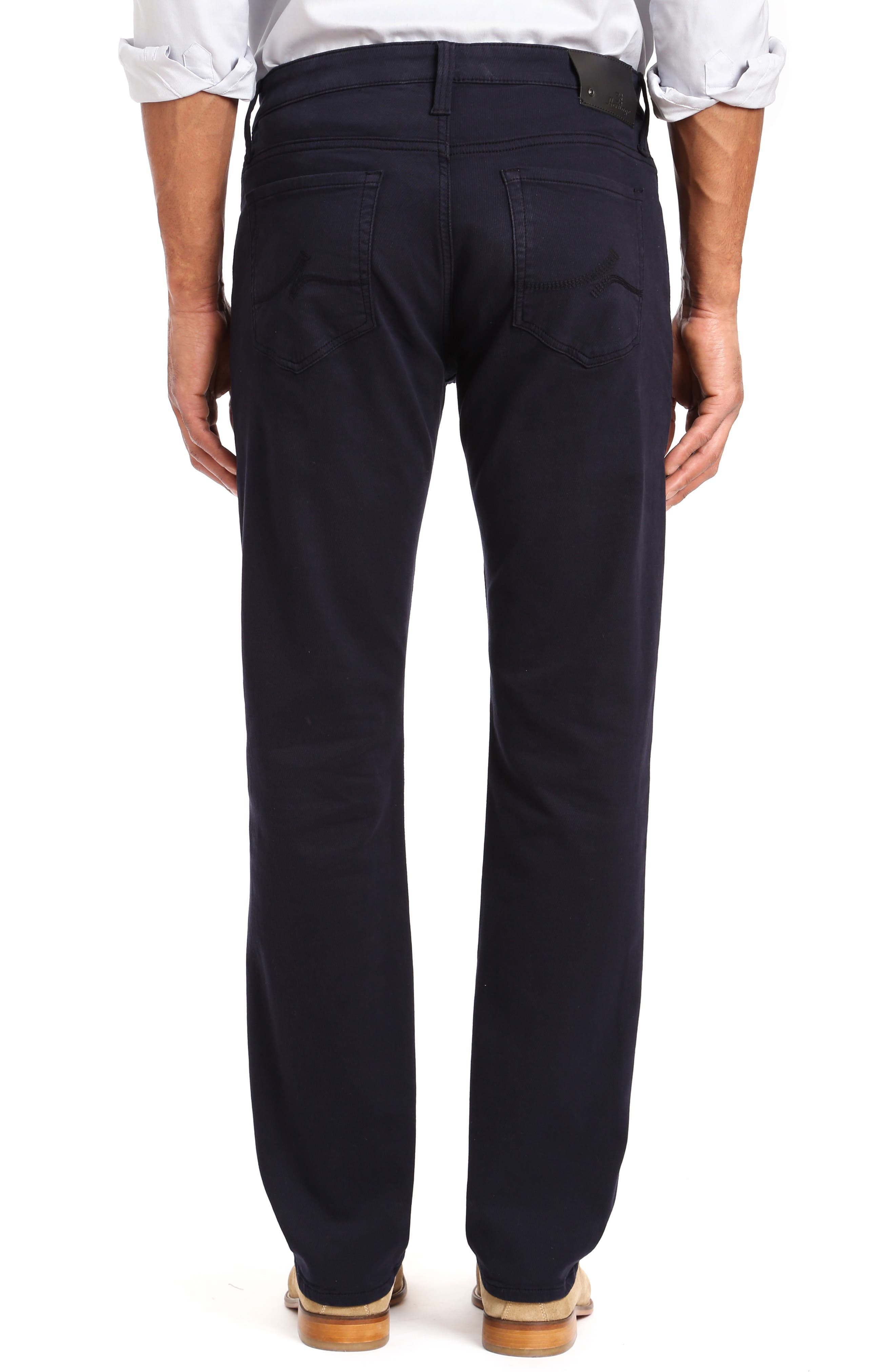 ,                             Courage Straight Leg Jeans,                             Alternate thumbnail 2, color,                             NAVY WASHED LUXE