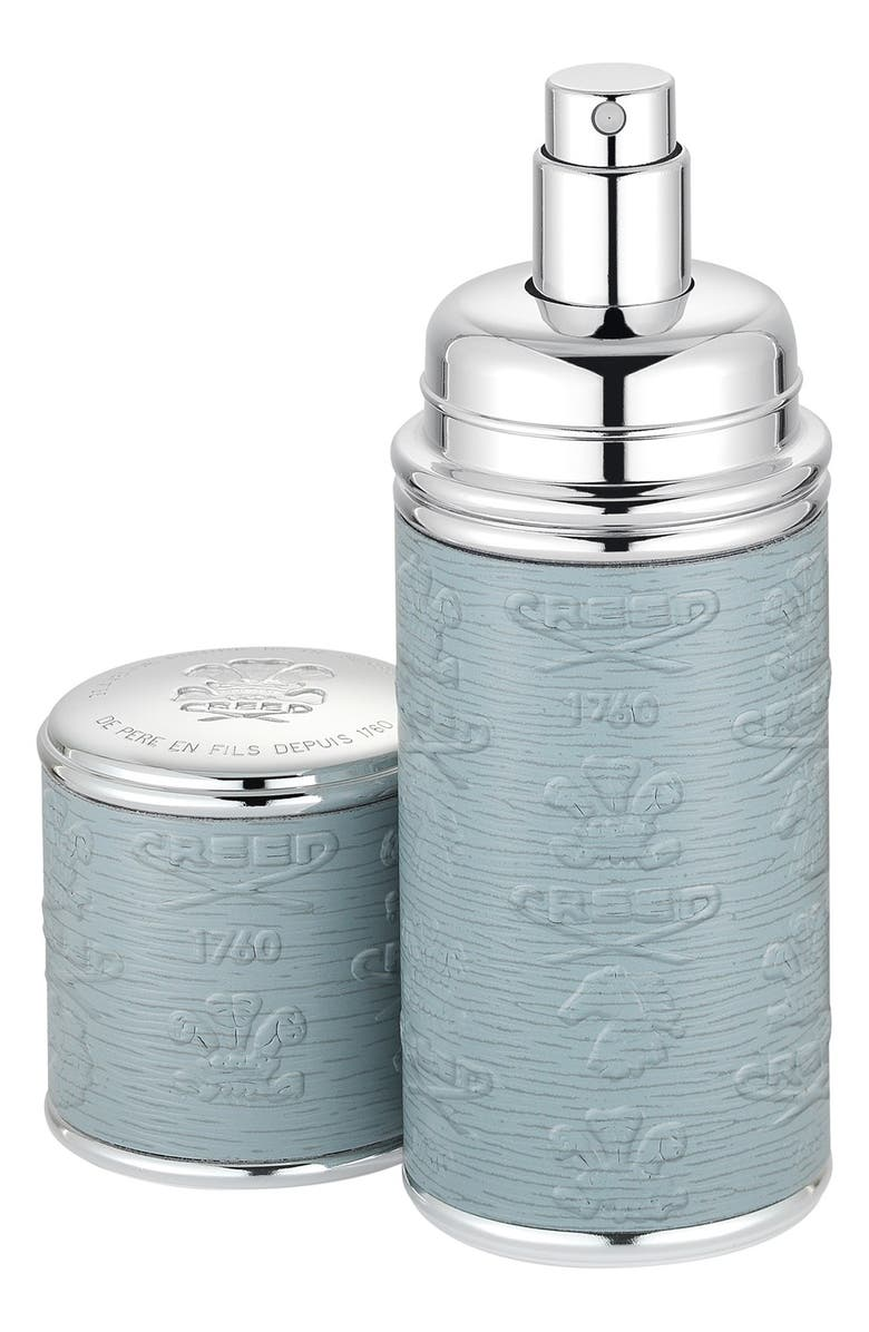 CREED Grey with Silver Trim Leather Atomizer, Main, color, NO COLOR